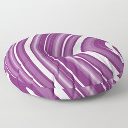 lollipop in white and purple Floor Pillow