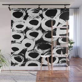 Minimal [4]: a simple, black and white pattern by Alyssa Hamilton Art Wall Mural