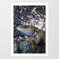 lizard Art Prints featuring Lizard by John Turck