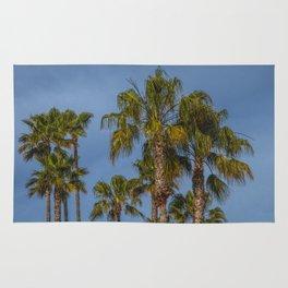 Palm Trees on Laguna Beach in California Rug