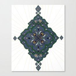 Lively Earth Mandala - v.2 Canvas Print