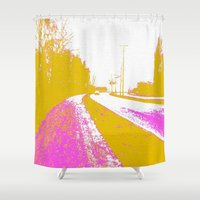 road Shower Curtains featuring Road by Mr & Mrs Quirynen