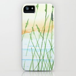 Reeds in a sunset iPhone Case