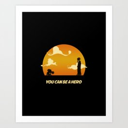 My Hero Sunset Art Print