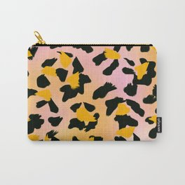 Painted Leopard Skin with Pink/Yellow Tint Background #decor #society6 #buyart Carry-All Pouch