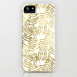 Gold Leaves 1 iPhone Case