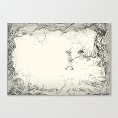 Witches on a Walk Canvas Print