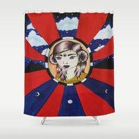 coven Shower Curtains featuring Psychic Vision by LUCID CREATOR