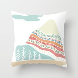 Winter Blush Throw Pillow