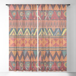 Tribal Ethnic (earth colors) Sheer Curtain