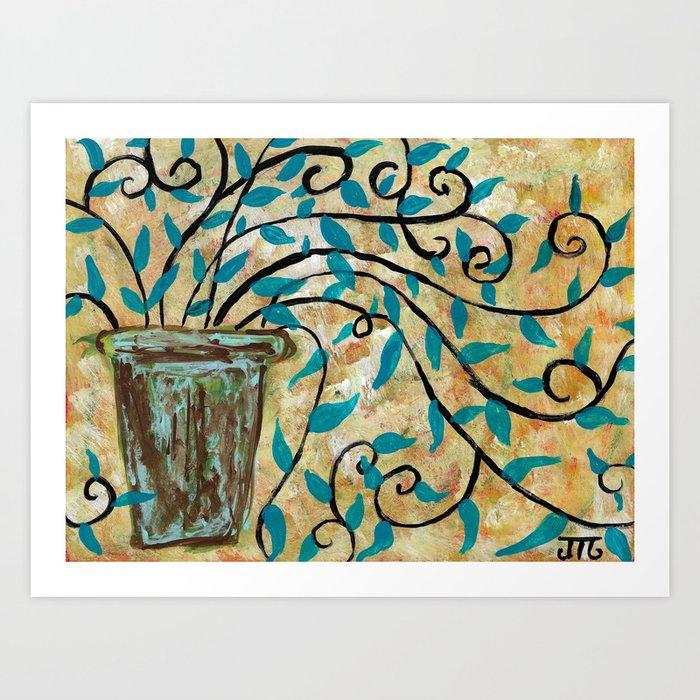 """Blue Arrows"" Art Print"