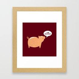 An Honest Meal Framed Art Print