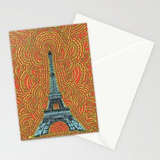 Eiffel Tower Drawing Meditation - Blue/Red/Yellow Stationery Cards
