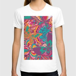 The Angels Sing with Butterflies in a Cloud of Paisley T-shirt