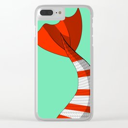 Candy Cane Mermaid Tail #2 #Christmas #Holiday Clear iPhone Case