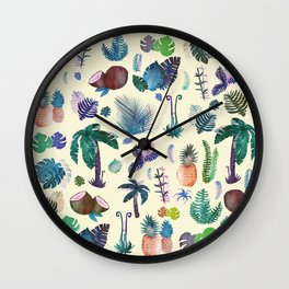tropical vibes Wall Clock