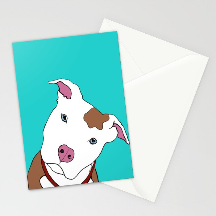 Pit bull Stationery Cards
