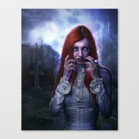 witchcraft Canvas Prints featuring WitchCraft by Nicole Omernick (nikkidoodlesx3)
