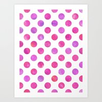 Polka Dot Watercolor Art Print