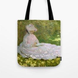12,000pixel-500dpi - Claude Monet - Springtime - Digital Remastered Edition Tote Bag