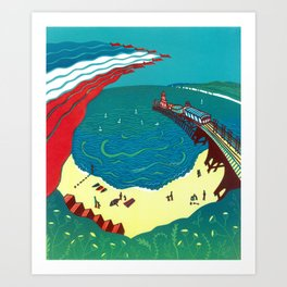 Red Arrows, Bournemouth Art Print