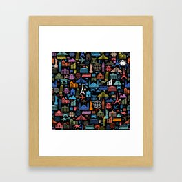LET'S TRAVEL AROUND THE WORLD!!! Framed Art Print