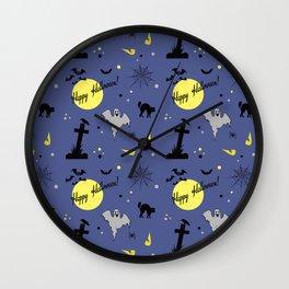 Halloween symbols Wall Clock