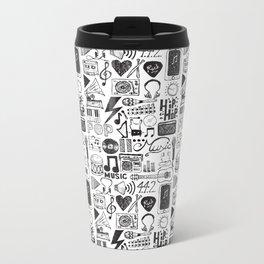 Music Doodles Metal Travel Mug