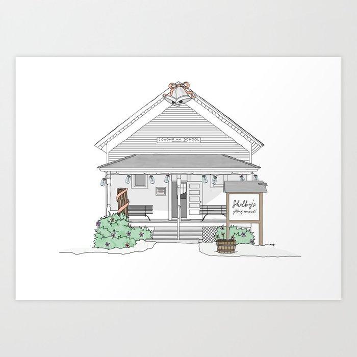 Shelby's Schoolhouse Art Print