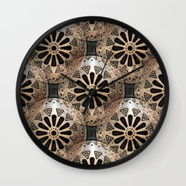 Medallions Re-visited 1 Wall Clock