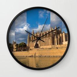 Cathedral of Palma de Mallorca Golden hour Timeslice Wall Clock