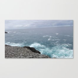 Cold cantabrian sea Canvas Print