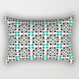 Gem Tiles Turquoise Rectangular Pillow