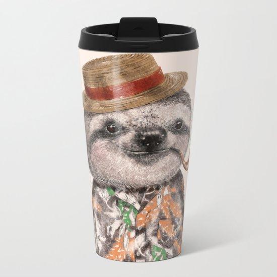 Mr.Sloth Metal Travel Mug
