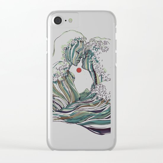 Kissing The Wave Clear iPhone Case
