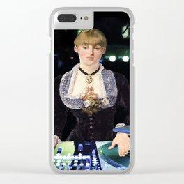 A DJ at the Folies-Bergère Clear iPhone Case