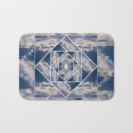 Abstract Clouds Tiled Bath Mat