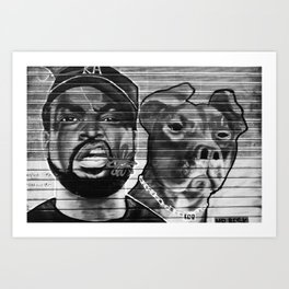 Street Talk Art Print