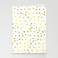 gold dots Stationery Cards featuring Gold Dots by Laura Maria Designs