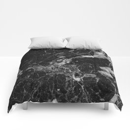Black and Gray Marble Pattern Comforters