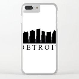 detroit skyline Clear iPhone Case