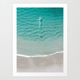 Swimming Away - Crystal clear beach in Western Australia Art Print