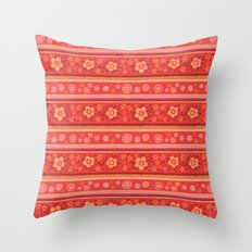 Bright Red Flowers Throw Pillow
