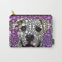 Pit Bull Stone Rock'd Art By Sharon Cummings Carry-All Pouch