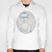 ryan gosling Hoodies featuring RYAN by Itxaso Beistegui Illustrations