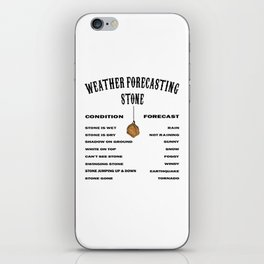 Funny Weather Forecasting Meteorology Weatherman iPhone Skin