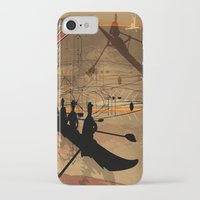 rowing iPhone & iPod Cases featuring Rowing by Robin Curtiss