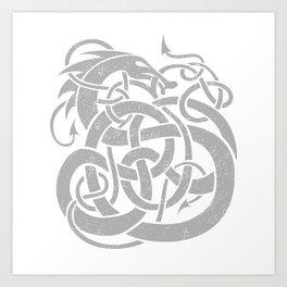 JÖRMUNGANDR Art Print