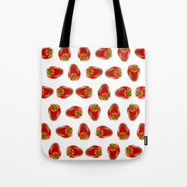 Red peppers pattern Tote Bag
