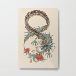Botanical Flower Dragon 8 Metal Print